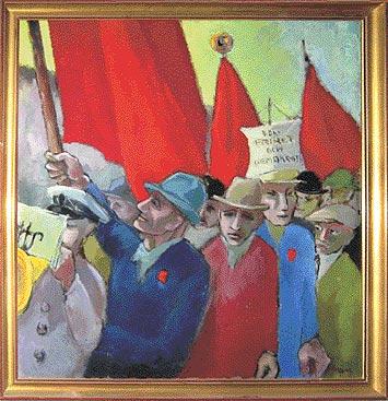 Skånskt demonstrationståg 1946 ES Persson