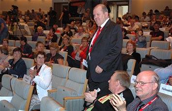 Hans Engelberts på Kommunals kongress 2007