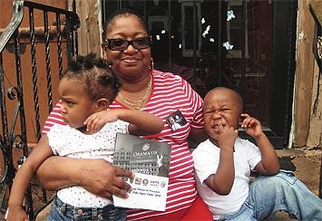 Valerie Upchurch och barnen