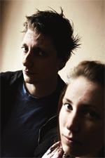 Assistenterna Johannes Remnegård och Jessica Samuelsson