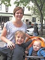 Laura Morand och barnen