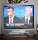 Obama och McCain på tv.