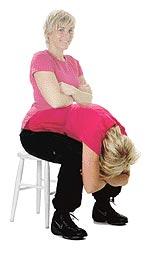 Bea visar mjuk-rygg-övning.