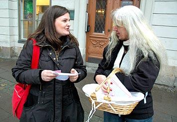 Mikaela Valtersson och Margareta Boman