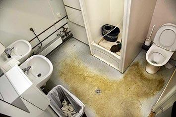 Pissmojens toalett.