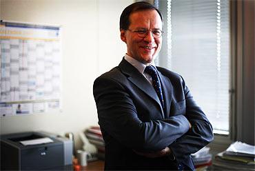 Christian Hess från Tyskland arbetar för arbetsgivarsidan inom ILO.