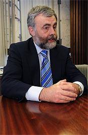 """TVEKSAM. """"Jag saknar en klausul som garanterar fackliga rättigheter"""", säger Jack O'Connor, ordförande i irländska LO och fackförbundet SIPTU."""
