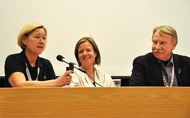 Anneli Hultén, Carin Jämtin och Ilmar Reepalu.