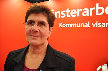 Ylva Thörn, Kommunals ordförande på S-kongressen 2009.