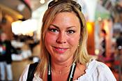 Jessica Bjur, barnskötare, Strängnäs, ombud Kommunals kongress 2010.