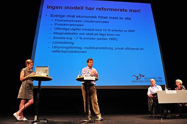 Socialdemokraterna ekonomiska seminarium i Almedalen 2010.