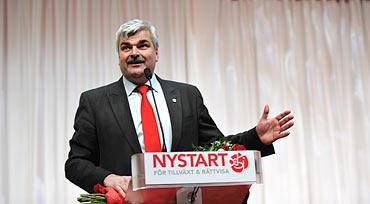 Håkan Juholt, nybliven partiordförande för Socialdemokraterna.