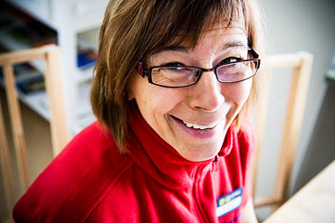 Anna-Lena Eklund, som var med och startade kooperativet, fick en bra arbetssituation hos Attendo.
