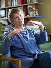 Den guidade meditationen går ut på att Karin Arvidsson beskriver bilder som de andra ska föreställa sig.