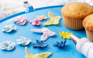 Dekorationer till cupcakes.