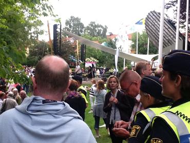 Sverigedemokraternas dag i Almedalen.