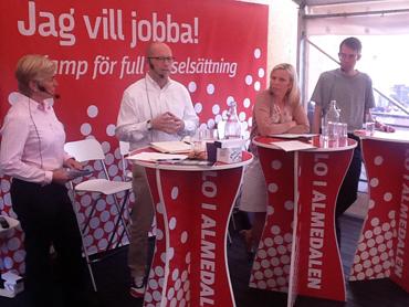 LO:s ekonomiska seminarium i Almedalen.