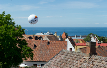 Utsikt över Visby.