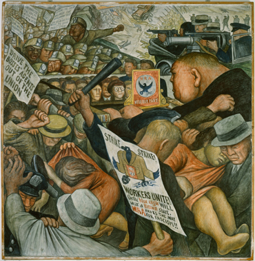 The New deal, mural av Diego Rivera.