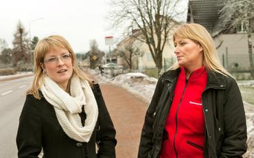 Linnea Granath och Kristina Wilson, Kommunal i Ydre.