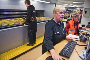 Ewa Holmlund, kommunförrådet Nyponet i Skellefteå.