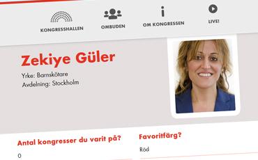 Zekiye Güler, skärmdump från ombuden.se.