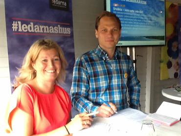 Marie Elinder , Ledarna, och Johan Ingelskog, Kommunal.