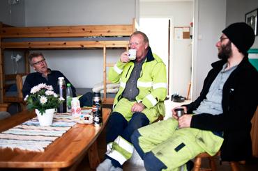 Göran Johansson, trädgårdsanläggare, tillsammans med SÖren Guttman och Michael Andersson.
