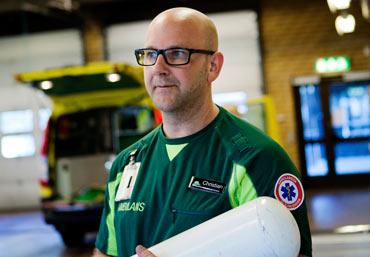 Christian Ralbring, ambulanssjukvårdare i Trollhättan