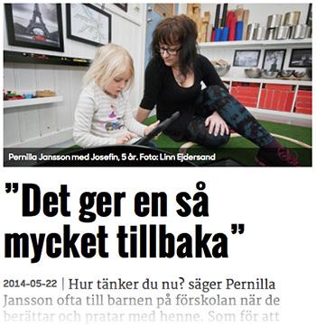 Pernilla Jansson, barnskötare.