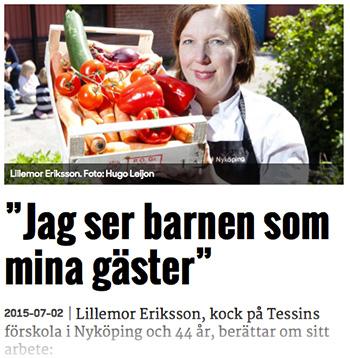 Lillemor Eriksson, förskolekock.