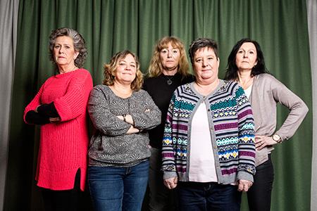 Annelie Ohlsson, Ann-Charlotte Bergelin, Therése Hermansson, Ann-Louise Sonego och Katarina Pettersson.