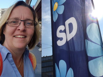 Anna-Karin Åström, kommunalare och aktiv sverigedemokrat.