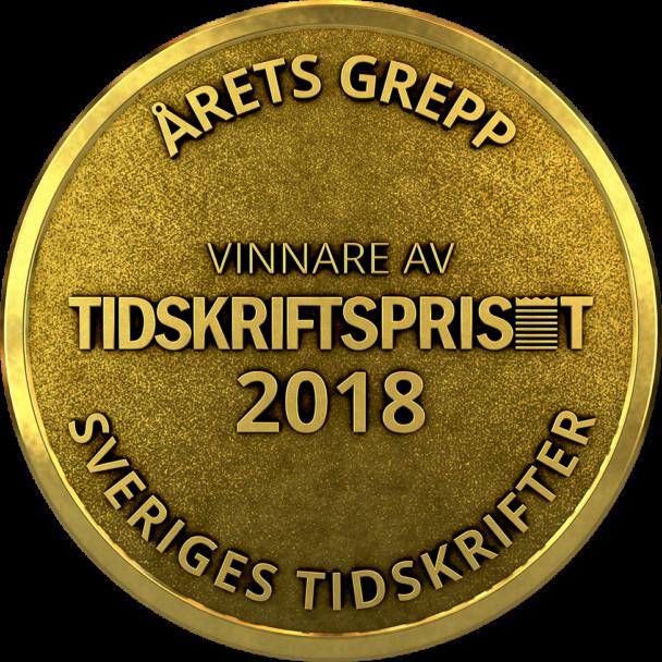 """""""Det här får du inte på banken"""" vann Tidskriftspriset 2018 i kategorin """"Årets grepp""""."""