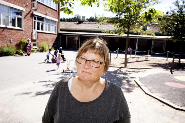 Monica Olsson på Förstamajgatans förskola.