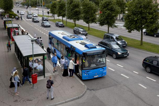 Buss vid Kampenhof i Uddevalla.