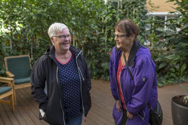 Inga-Britt Berglund och Eva Jonasson.