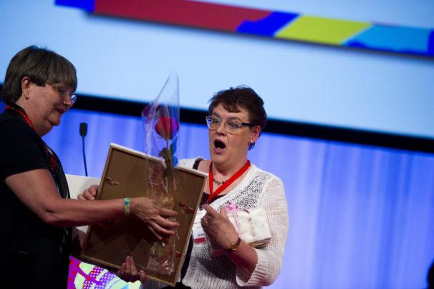 Ulla Lindberg, vinnare av demokrati- och solidaritetspriset 2013.