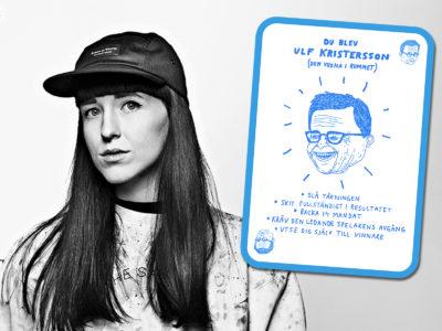 BIm Eriksson och hennes kort på Ulf Kristersson.