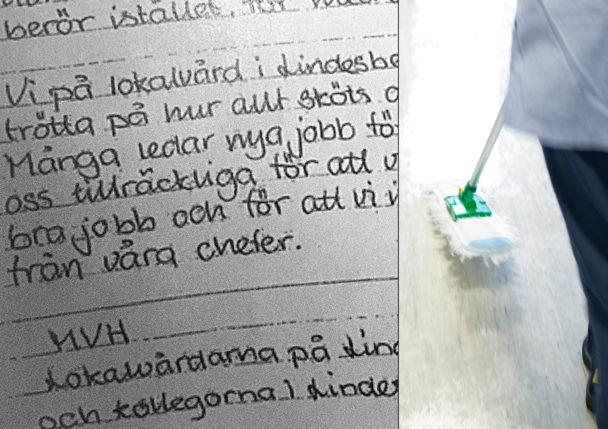 Brevet från städarna i Lindesberg.