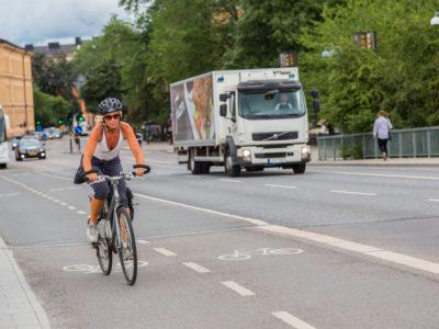 Cyklist (genrebild).