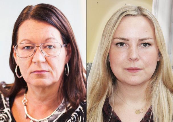 Lenita Granlund och Kerstin Mikaelsson.