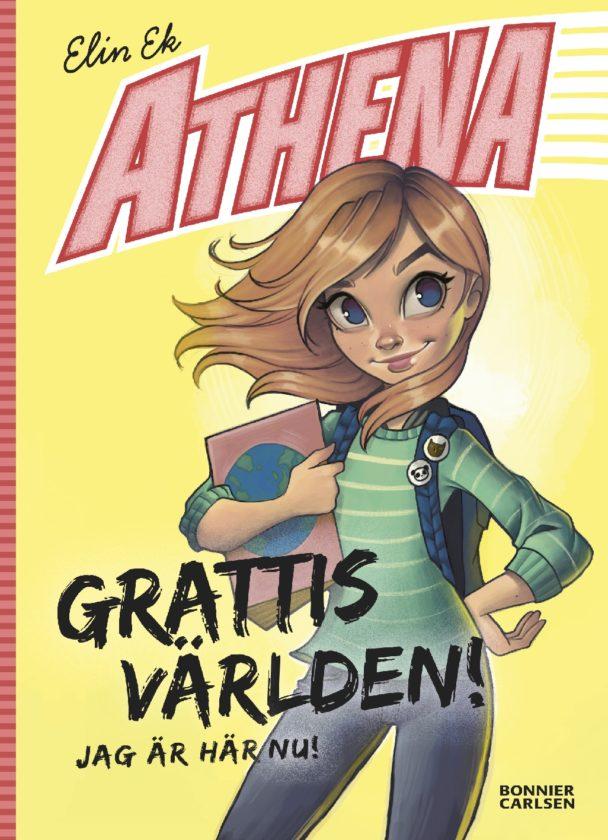 """""""Athena. Grattis världen – jag är här nu!"""" av Elin Ek."""