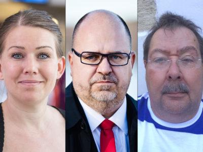Lisa Bengtsson, Karl-Petter Thorwaldsson och Bengt Sandberg.