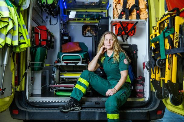 Eva Lundqvist, ambulanssjukvårdare.