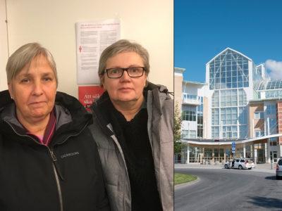 Ulla Leffler och Helen Larsson på Sunderby sjukhus.