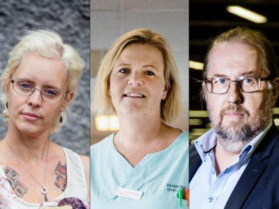 Lindha Holmqwist, Ann-Sofi Andersson och Robert Alf.
