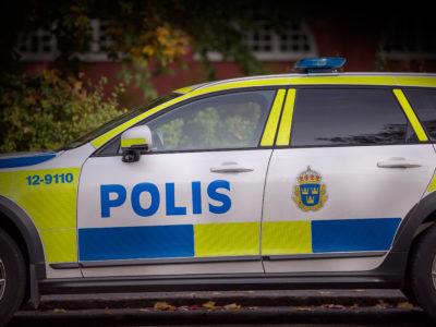 Polisbil (genrebild).