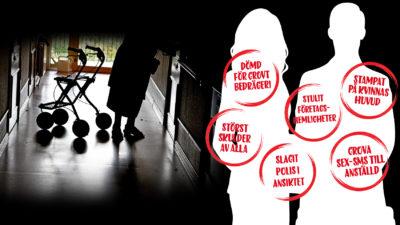Bland landets hemtjänstföretagare finns personer som dömts för allvarliga brott.