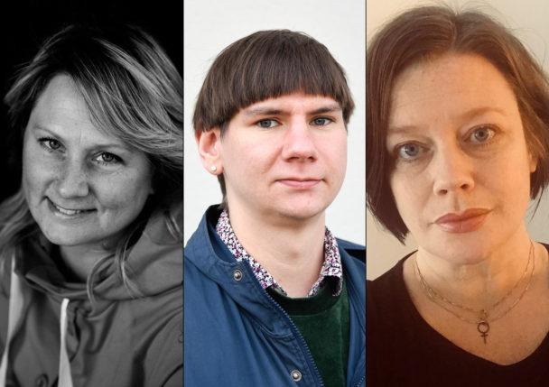 Helena Ersson, Felix Finnveden och Malin Ragnegård.